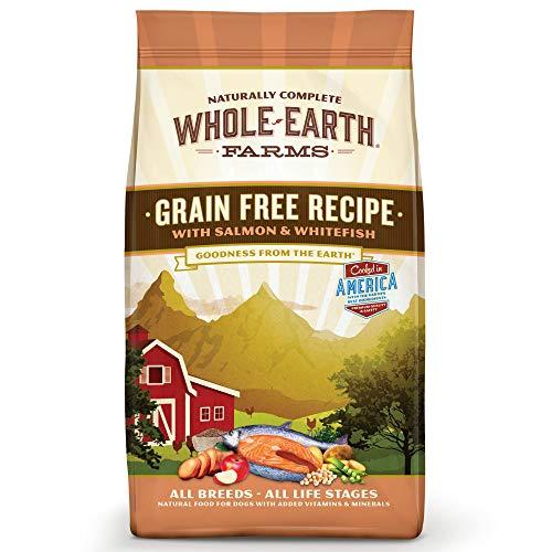Whole Earth Farms Grain Free Recipe Dry Dog Food, Salmon & Whitefish, 12-Pound