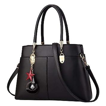 4dd0ac68ac69 Amazon.com : Lefthigh Retro Ladies Tote Messenger Bag Solid Color ...
