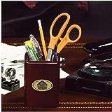 NFL Hall of Fame Walnut Pencil Holder for Office Desk