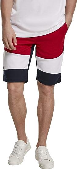 TALLA L. Southpole Color Block Tech Fleece Shorts Pantalones Cortos para Hombre