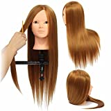 LuckyFine 24'' Golden Hairdressing Makeup Ausbildungspraxis Head Mannequin Doll