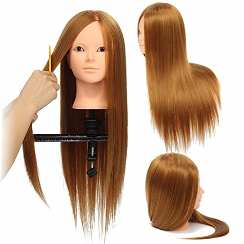 LuckyFine 24'' Golden Hairdressing Makeup Ausbildungspraxis Head Mannequin Doll 24' Head