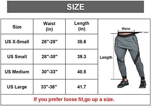 LANGCHEN Mens Workout Jogger Pants Gym Bodybuilding Running Trousers Pockets