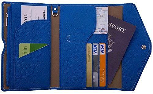 ed0ebd072d3 Travelambo Rfid Blocking Passport Holder Wallet   Travel Wallet ...