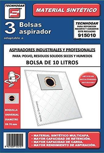 Tecnhogar 915010 Bolsa aspirador, Blanco: Amazon.es: Hogar