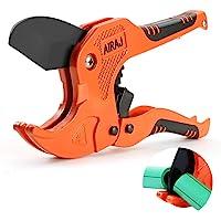 AIRAJ Plastic Pipe Cutter, PVC Cutter Ratchet Type Pijpsnijder, voor het snijden van buitendiameter 42 mm PEX, PVC en…