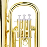 Mendini B Flat Baritone with Stainless Steel