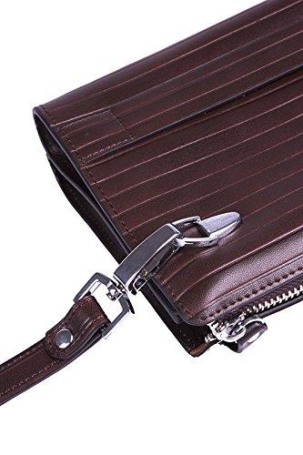 Verus Herrenhandtasche Italienisches Leder Braun