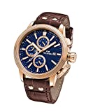 TW Steel 'CEO Adesso' Quartz Stainless Casual Watch, Color:Brown (Model: CE7017)