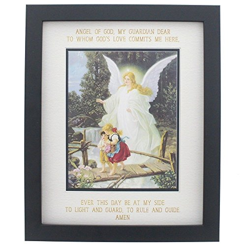 Guardian Angel Prayer and Image Framed Print