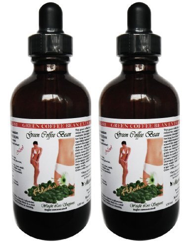 Green Coffee Bean Liquid Extract, 100% Pure All Natural Formula (2x4oz) by HawaiiPharm