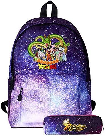 Dragon Ball Mochilas Escolares Mochila y Estuche de lápices Bolsa de Viaje de Dos Piezas Trendy