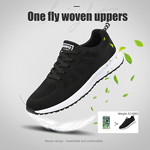 Walking Up Shock Pink Lace Absorbing Monrinda Shoes Lightweight Grey Sport Running White Women Sneakers Ladies Gym Shoes Black Blue Black Comfy Sneakers Breathable Casual xCqwxaPY