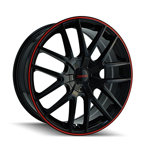 (Touren TR60 3260 Wheel with Black Finish with Red Ring (20x8.5