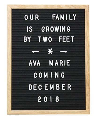12 x 16 Changeable Letter Board - Black With Solid Oak Frame, Wall Mount, Canvas Bag, and 290 Characters - by Executive Office Solutions Photo #7