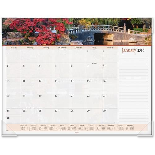 (89802 At-A-Glance Panoramic Landscape Desk Pad Calendar - Monthly - 22