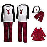 Clearance! Holiday Family Matching Fleece Deer Plaid Pajama PJ Sets The Family Adult Boys Girls