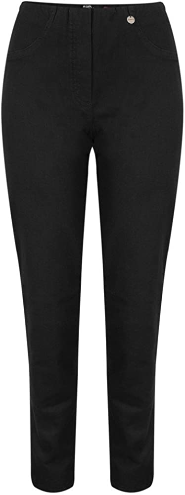 Robell Bella Jeans Denim Power Stretch Lang Schlupfhosen Stretchhosen Black - 90