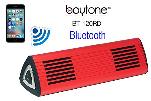 Boytone BT-120RD Portable Wireless Bluetooth Speaker, Built-