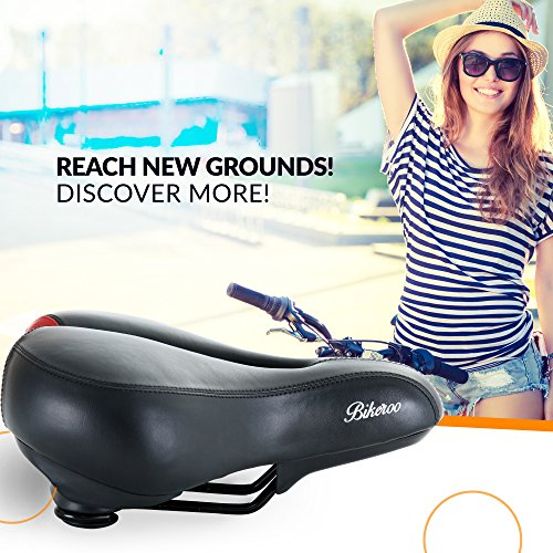 0fed0751ccc Bikeroo Most Comfortable Bike Seat for Women - Padded Bicycle - Import It  All