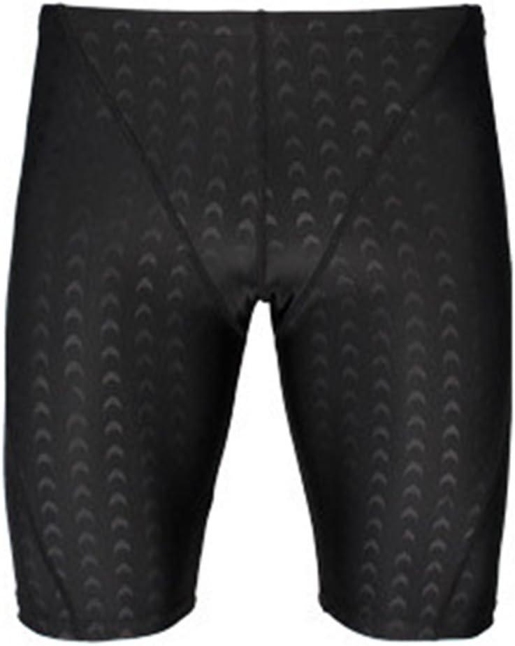 Tukistore hombres pantalones de natación pantalones cortos de natación negro traje de baño elástico traje de baño pantalones deportivos activos