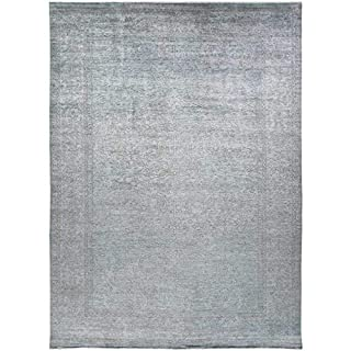 "Solo Rugs Vibrance Traditional Inspiration One of a Kind Hand Knotted Area Rug, Dove, 9' 10"" x 13' 7"" (B07RJ27T11) 