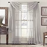 Forart Elegance Solid Window Treatment- Curtain ,Panels, Valances and Scarves, Various Colors 4