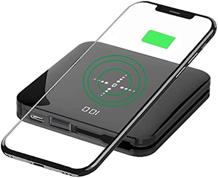 UCMDA Chargeur sans Fil, Chargeur Rapide sans Fil Qi 8000mAh, Mini Batterie Externe pour Samsung S10S9S8S7Note 987 iPhone XXSXR8 Plus et