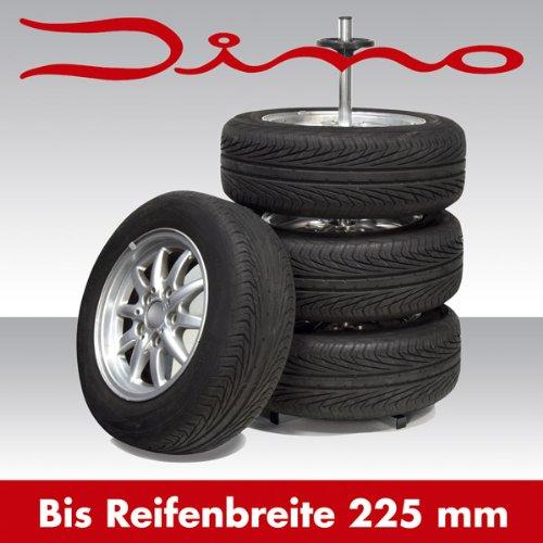 """70%OFF Dino 130003 Support de pneus avec housses de protection pour un stockage optimal des roues allant jusqu'à 18"""" et 225 mm de largeur"""