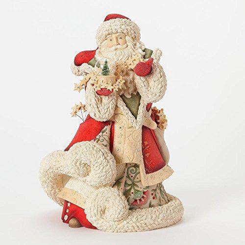 Amazon Lightning Deal 71% claimed: Enesco Heart of Christmas Gift Masterpiece Santa W Snow Globe Figurine 12.2-Inch