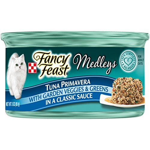 Purina Fancy Feast Medleys Tuna Primavera With Garden Veggies & Greens In A Classic Sauce Adult Wet Cat Food - 3 Oz. Cans (Pack of 24)