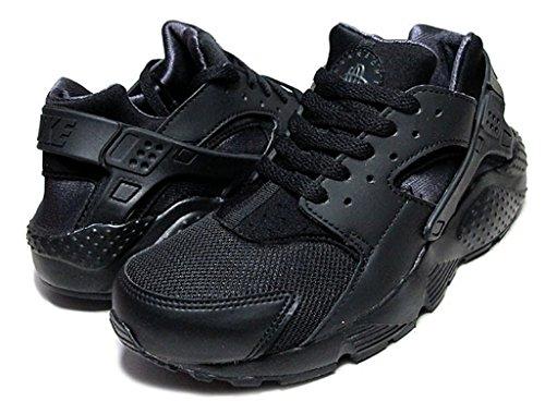 Nike Air Huarache Run GS (Black/Anthracite) Triple Black (7) by NIKE