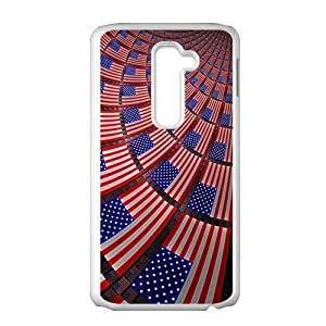 Unique US Flag Phone Case for LG G2 by ruishername