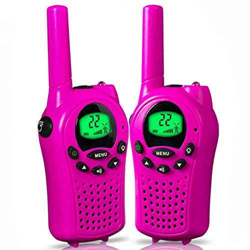 Easony Gifts for 3-12 Year Old Girls, Long Range Walkie Talkies for Kids Gifts for Teen Girls Toys for 3-12 Year Old Girls Gifts for Kids age 3-12 Pink ESUSTS06 by Easony