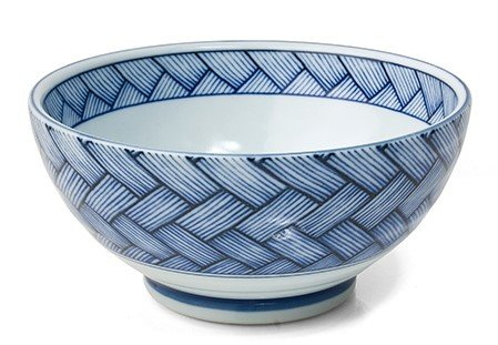 (Japanese Blue and White Basket Weave 7.25