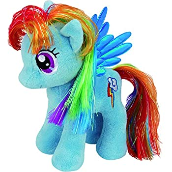 Amazon Com My Little Pony 20 Rainbow Dash Plush Toy Blue Multi