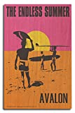 Avalon, New Jersey - The Endless Summer - Original Movie Poster (10x15 Wood Wall Sign, Wall Decor Ready to Hang)