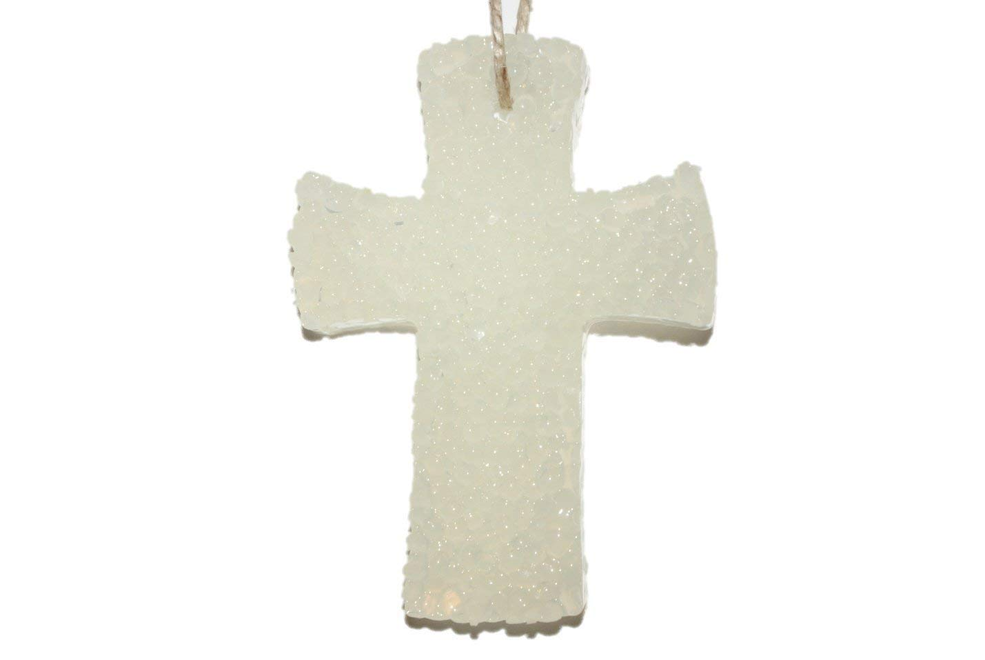 ChicWick Car Candle Leather and Lace Cross Shape Car Freshener Fragrance
