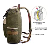 SUVOM Canvas Backpack, Vintage School