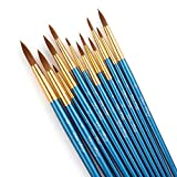 STARVAST Paint Brushes, 12pcs Artist Paint Brush Set Fine Pointed Paint Brushes for Acrylic Oil Watercolor Painting-Blue