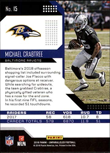 Amazon.com  2018 Panini Unparalleled  15 Michael Crabtree Football Card  Baltimore Ravens  Collectibles   Fine Art cf6877929