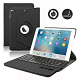 2018 iPad 9.7 / iPad 9.7 2017 Keyboard Case,Dingrich 360 Degree Rotating Case with Magnetic Removable Bluetooth Keyboard for New iPad 6th Generation and iPad 5th Genration (Black)