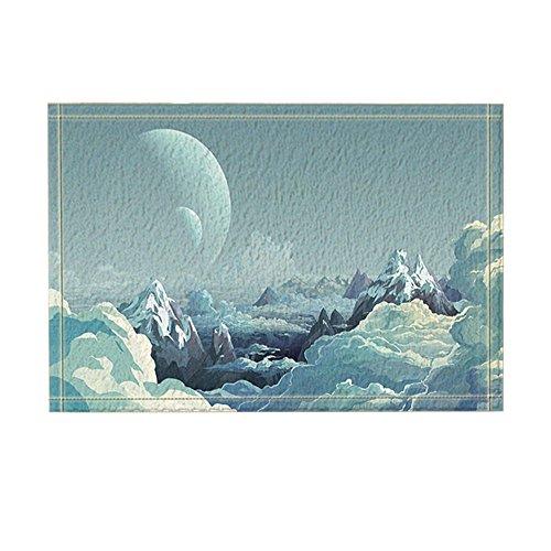 - NYMB Cartoon Bath Rugs, Peak Mountaintop Sea Of Clouds Moon, Non-Slip Doormat Floor Entryways Indoor Front Door Mat, Kids Bath Mat, 15.7x23.6in, Bathroom Accessories