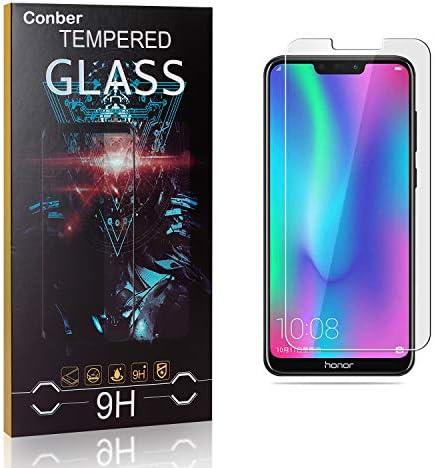 Conber [3 Stück] Displayschutzfolie kompatibel mit Huawei Honor 8C, Panzerglas Schutzfolie für Huawei Honor 8C [9H Härte][Hüllenfreundlich]