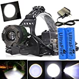 10000 Lumens T6 Zoomable LED Headlamp Focus Head Light Rechargeable 18650 | Charger USA