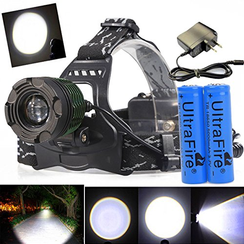 10000 Lumens T6 Zoomable LED Headlamp Focus Head Light Rechargeable 18650 | Charger USA by 9StarStore