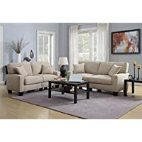 Serta by True Innovations 78 2-Piece Sofa2Go Martinique Sofa Set in Beige