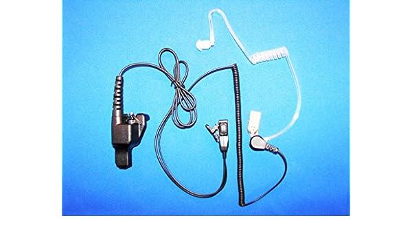 Acoustic Tube Headset for Motorola HT1000 JT1000 PR1500 MT1500 EF Johnson 7700