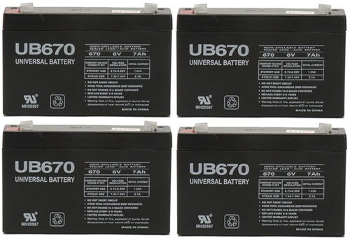 Universal Battery UB670 UPS Battery - 4 Pack by Universal Power Group