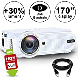 Projector, ARTSEA +80% Brightness for Home Theater LED Video Projector